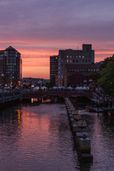 Sunset Before WaterFire, Providence, RI