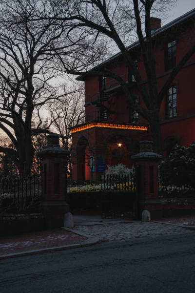 Spring Twilight at the RISD Woods-Gerry Gallery, 2021